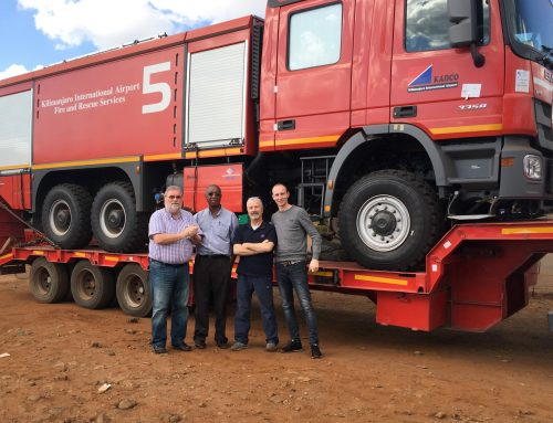 thenex GmbH of Bocholt, Germany supplies Fire Fighting Vehicles to Kilimanjaro International Airport (KIA)
