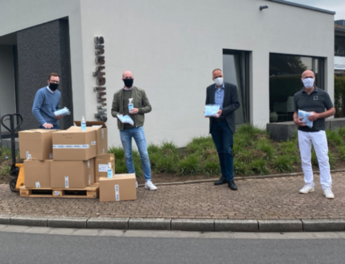 Charity donation: Dental practice Dr. Niehaus, Thenex GmbH and Ardap Care GmbH donate Face masks and disinfection spray for Büngern-Technik